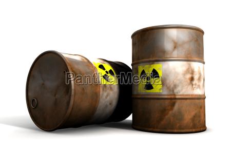 radioactive toxic waste barrels