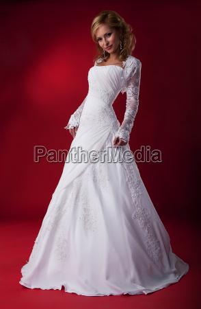 sensual fashion model bride blonde in