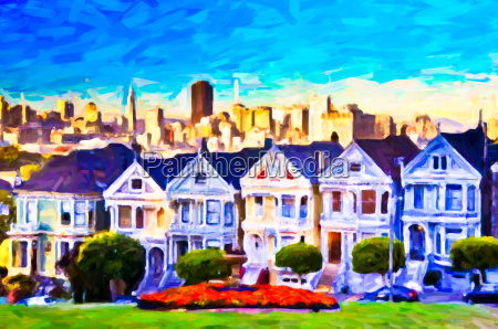 victorian houses in sf post process
