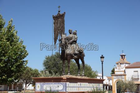 monument of a pilgrim cavalier in