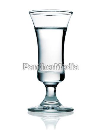 vodka in a shot glass