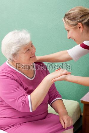 nurse visited senior