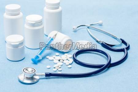 medical supplies with spilled pills