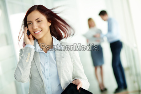 receiving business phone call
