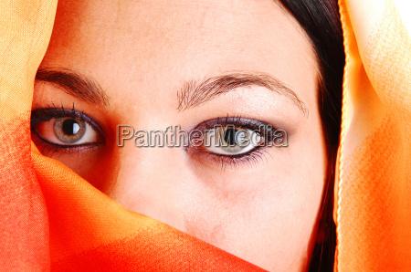 closeup of eyes of girl