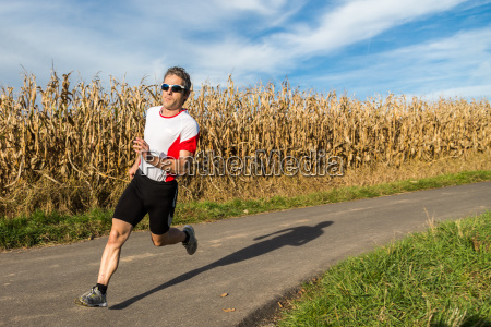 jogger in competition