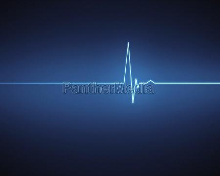 blue ecg heartbeat