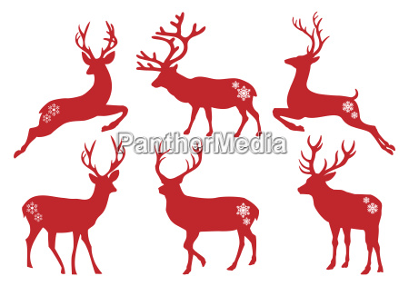 christmas deer stags