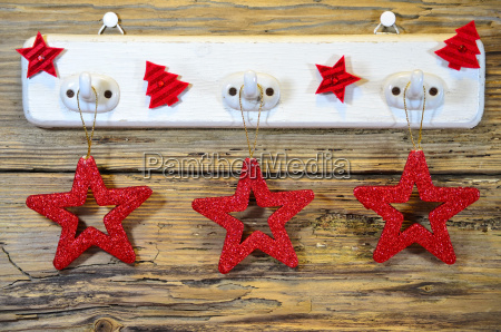 christmas wood heart star