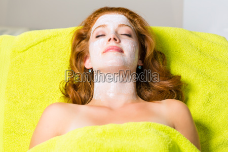 cosmetics woman with face mask