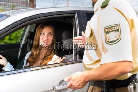 woman with police or police patrol