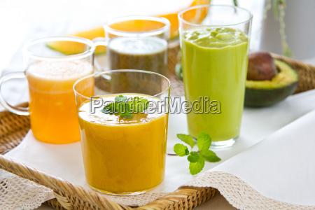 fresh fruits smoothie