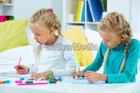 twins drawing