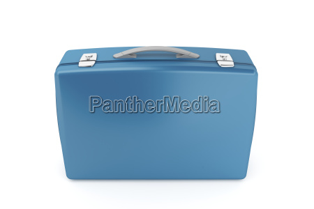 blue briefcase
