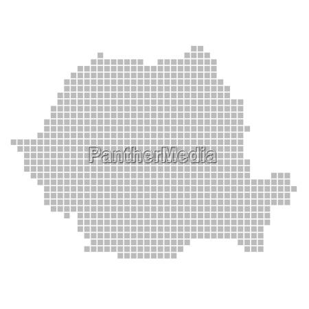 map of pixels romania