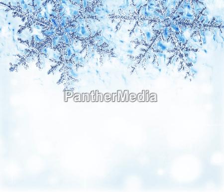 snowflake blue decorative border