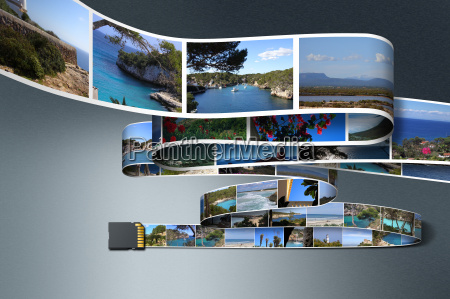 sd memory card with vacation photos