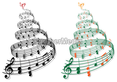 tree with music notes