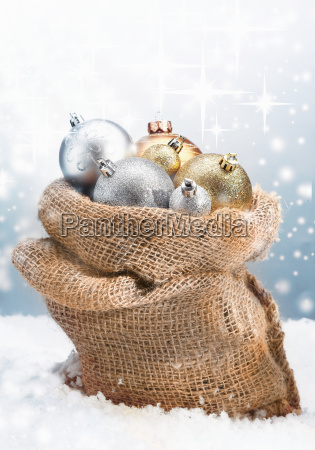 winter christmas baubles