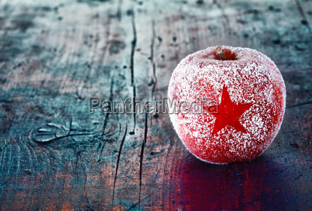 frosted christmas apple