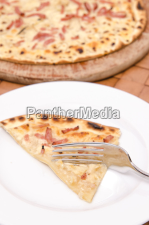fork with tarte flambee