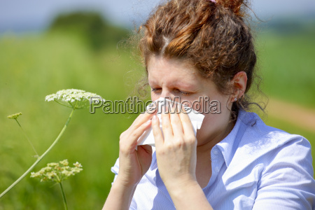 woman with a flu or an