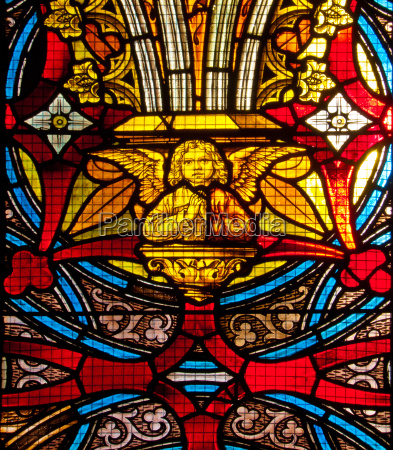 church window with angel