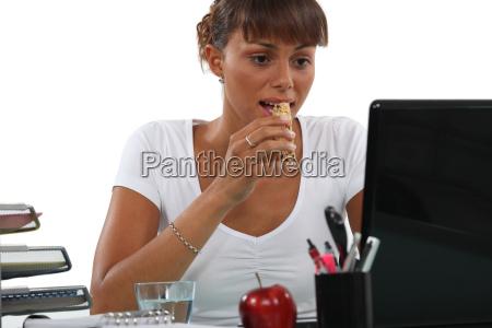 employee having a break