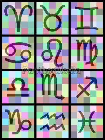 12 zodiac set a