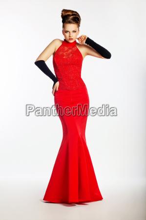 podium model sensual woman in