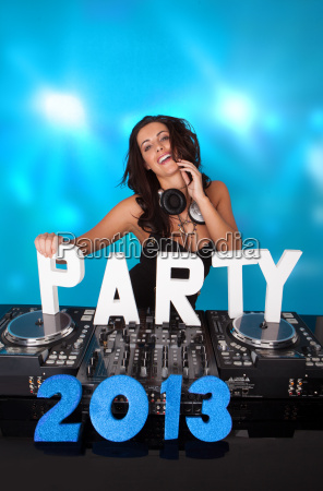 vivacious dj with party 2013 in