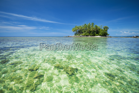 tropical island in sunny day