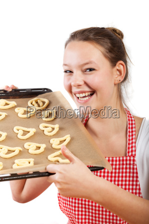 woman in the baking of christmas