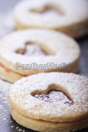 closeup of christmas cookies