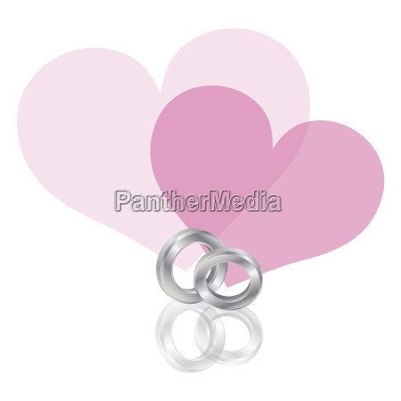 wedding rings platinum band with hearts