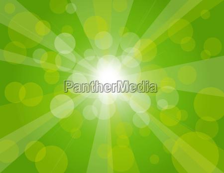sun rays on green background illustration