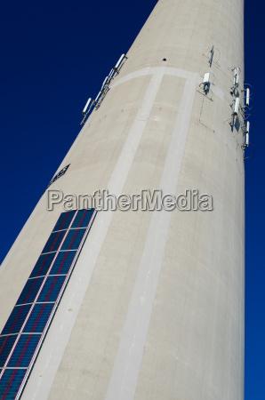 solar energy and mobile radio transmitter