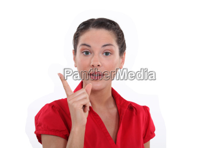 woman making a point