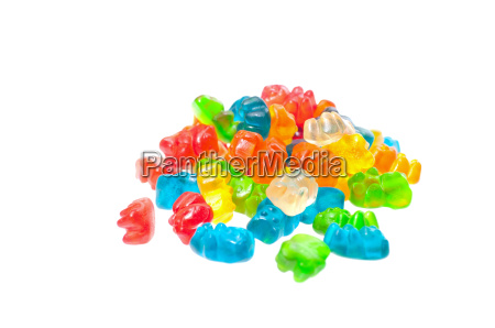 colourful gummy bears