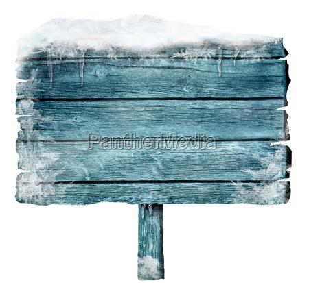 muestra de madera en invierno
