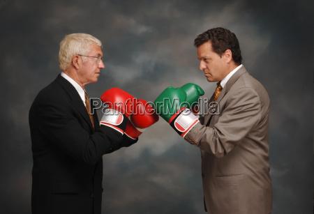 boxing business men