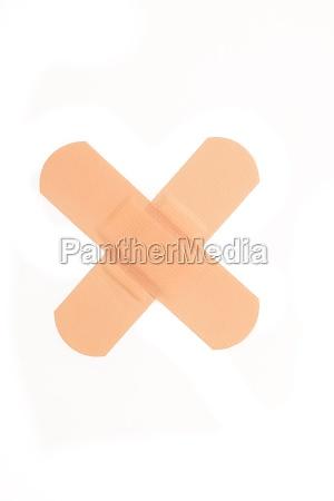 two plasters crossed