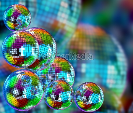 colorful funky background with mirror disco