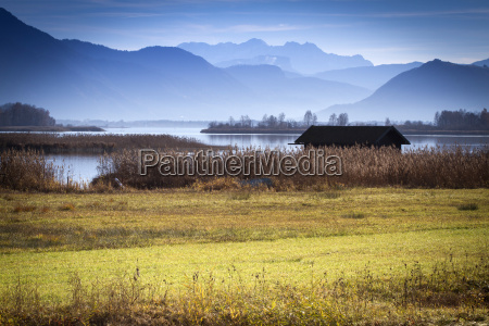 autumn mood at the chiemsee with