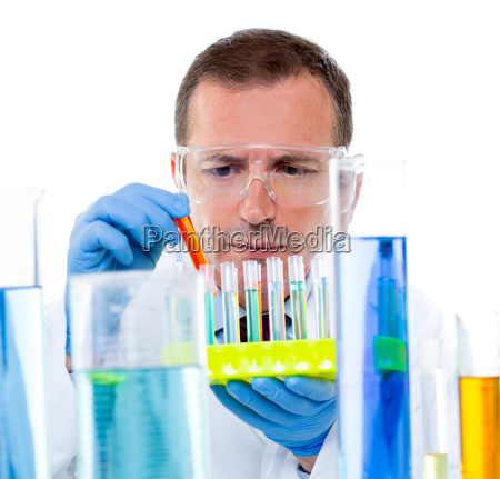 laboratory scientist working at lab with