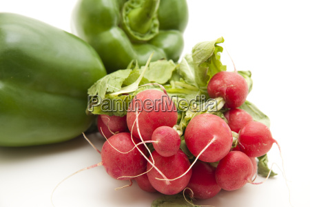 fresh radishes with peppers