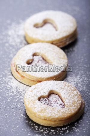 christmas cookies with icing sugar
