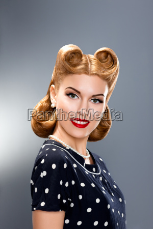 pin up style styled fashion model