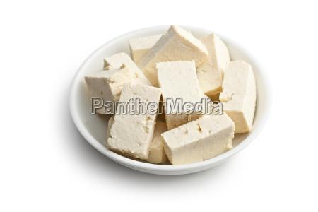 tofu in ceramic bowl