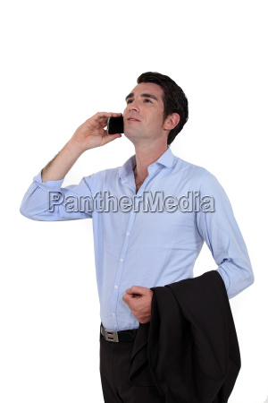 casual businessman with a cellphone